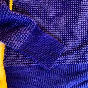Indigo blue V neck Calvin Klein sweater